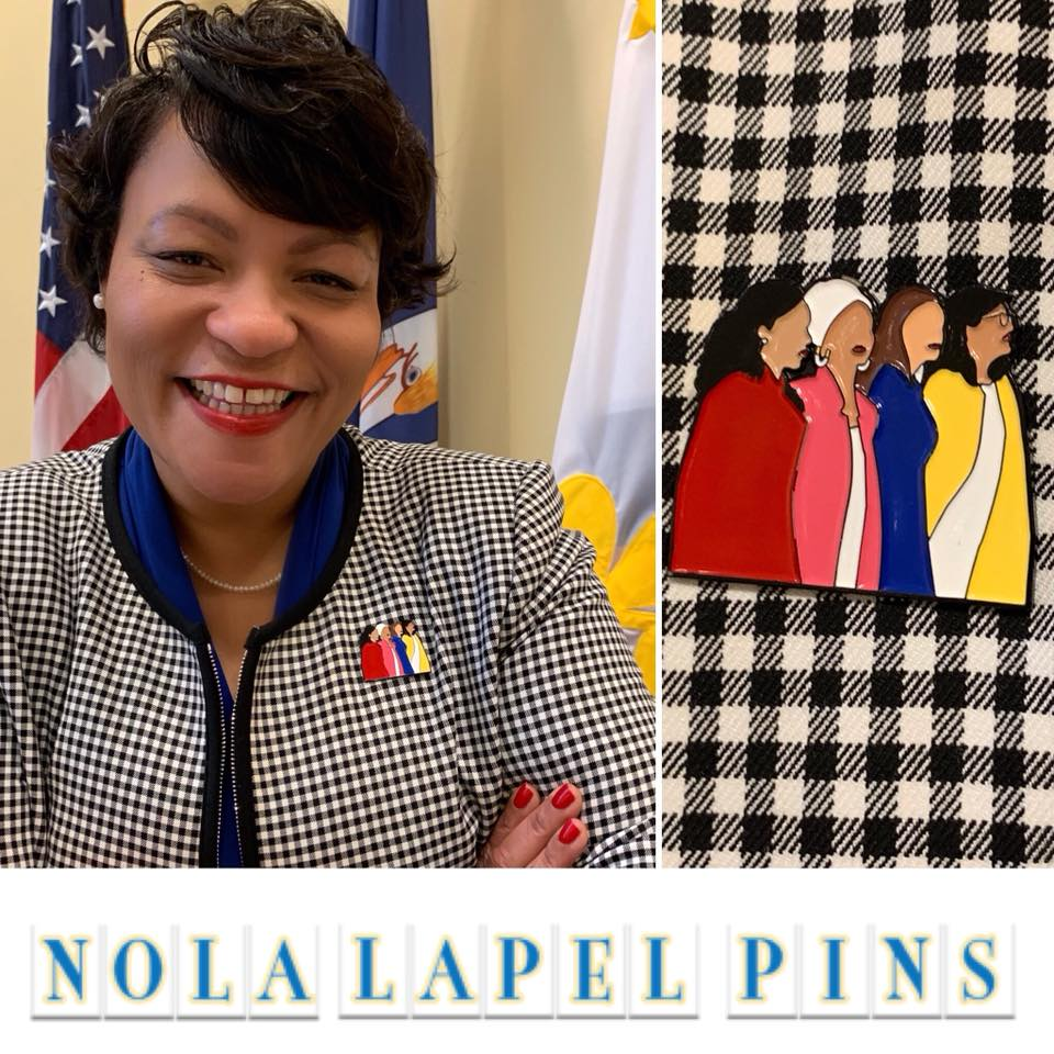 17e45522a50 Mayor LaToya Cantrell Reps #TheSquad with New Pin